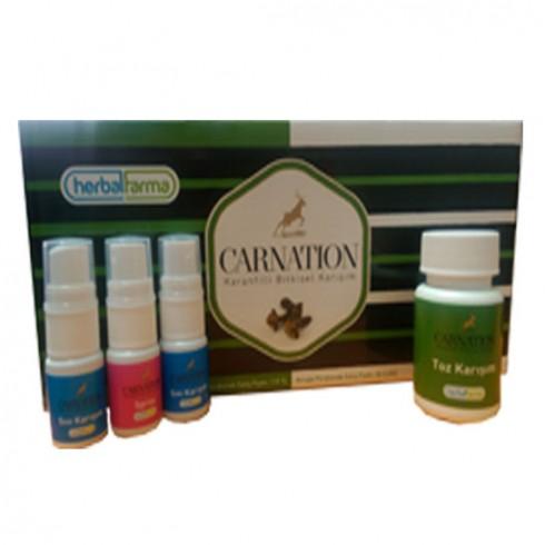 Carnation Karanfilli Sigara Bırakmaya Yardımcı Toz ve Sprey Bitkisel Set